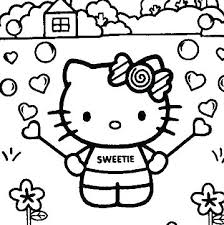 Coloring Pictures Of Hello Kitty Hello Kitty Coloring Pages Free