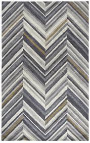 rizzy home marianna fields wool rectangular runner area rug 2 6 x 8 grey chevron