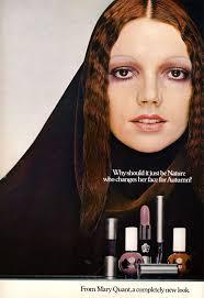 mary quant cosmetics ad in british vogue 1970 1970s makeup vine ads