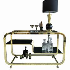 Design Institute Of America Catalog Brass Bar Cart By Design Institute America Mid Century Swag