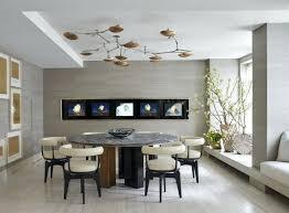 mid century modern chandelier dining room glass light chrome polished white wood rectangular table sputnik