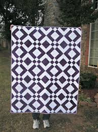 Best 25+ Two color quilts ideas on Pinterest | Half square ... & For Deven - The Fleming's Nine: Two Color Quilt - Purple Adamdwight.com