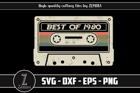 Get commercial use cassette graphics and vector designs. Best Of 1980 40th Birthday Cassette Graphic By Zemira Creative Fabrica