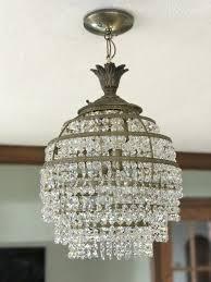 whimsical blue living my vintage crystal and brass craigslist chandelier