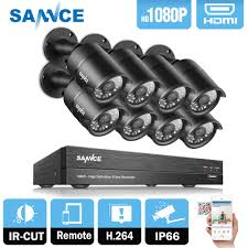 SANNCE 8CH <b>1080P 2MP CCTV DVR</b> Recorder 4PCS <b>1080P HD</b> ...