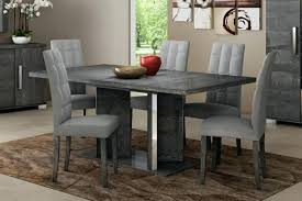 grey dining table chairs grey birch extending dining table chairs set furniture interiors black dining room