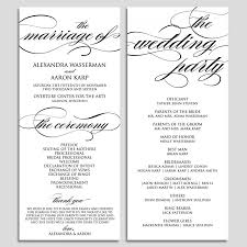 wedding party program templates ceremony template magdalene project org