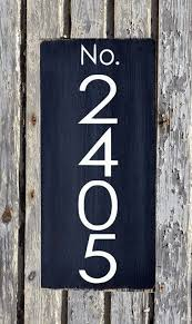 Wood Address Signs Outdoor Decor Address Sign Modern House Numbers Signs Outdoor Plaques Industrial 22