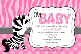 Zebra Hot Pink Flower Bow Baby Shower InvitationPink Zebra Baby Shower Invitations