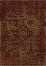 orian rugs indoor damask faded traditional red area rug 5 3 x7 6 traditional area rugs by pypal