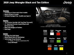 2020 Jeep Colors Chart Whats New For 2020 Jeep Wrangler Engines Exterior