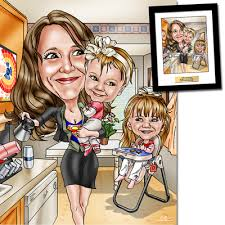 mother s day gifts a custom caricature