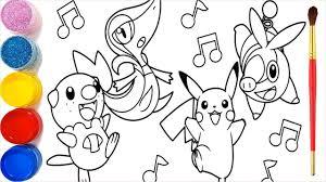 37 + Tranh tô màu Pokemon dễ thương nhất cho bé tập tô