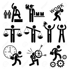 ビジネス人実業家概念スティック図絵文字アイコン クリップアート