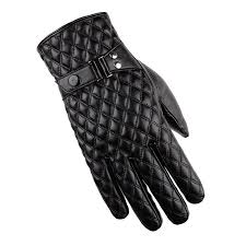 2018 best er men s gloves pu leather winter outdoor glove fur warm stitching touch screen black gloves on decoration