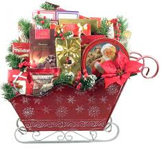 xmas gift baskets. Interesting Xmas Large Gourmet Sleigh Gift Basket For Christmas And Xmas Gift Baskets S