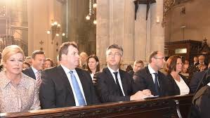 Image result for plenkovic i kolinda na misi kod stepinca fotos