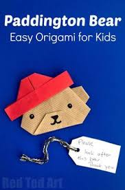 easy paper paddington bear craft oh my how cute is this origami bear not just any bear but origami paddington bear love love love