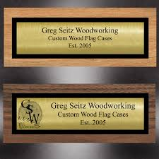 1x4 double plated brass name plates for flag cases by greg seitz
