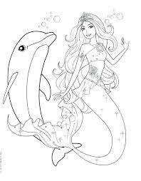 Free Mermaid Coloring Pages Free Barbie Mermaid Coloring Pages Print