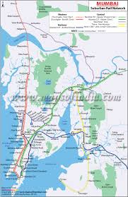 New Worli Chart Mumbai Railway Map Railway Network Of Mumbai Maps Of India