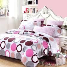 polka dot bedding sets white gray purple and hot pink circle and polka dot print full