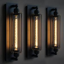industrial wall lights. Black Metal Industrial Mini Wire Cage Wall Lamps Sconce Shade Bulbs Not Included For Bedroom Hallway Coffee Bar Loft Ligh Retro Lamp Lights