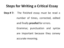 to writing a critical essay how to write a critical analysis essay definition