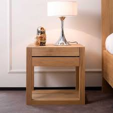 Side Tables For Bedroom Contemporary Bedroom Side Tables 2 Drawer Storage Solid Wood