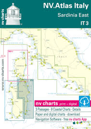 It 3 Nv Atlas Italy Sardinia East Pre Order For New Edition March 2020