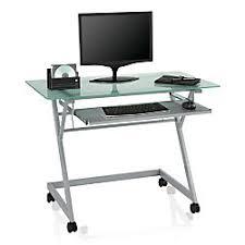 office depot computer table. Plain Depot Brenton Studio Mobile Computer Station Desk Frosted Intended Office Depot Table
