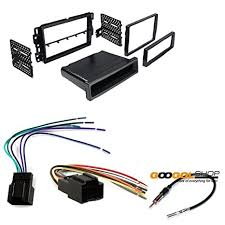 amazon com chevrolet 2006 2013 impala car stereo dash install Aftermarket Car Stereo Wiring Harness chevrolet 2006 2013 impala car stereo dash install mounting kit wire harness radio antenna