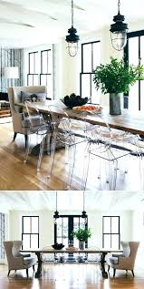 acrylic dining room table acrylic dining room chairs industrial lights and wood table and clear ghost