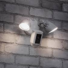 Ring Flood Light Home Depot Ring Outdoor Wi Fi Cam With Motion Activated Floodlight
