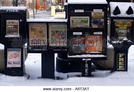Coin Operated Newspaper Vending Machine Delectable Newspaper Vending Machines Covered In Snow In Downtown Salt Lake