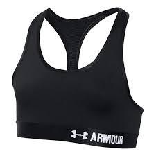 under armour zip front sports bra. under armour girls sports bras - black yxs zip front bra