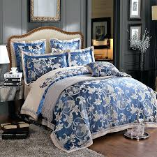 royal blue duvet cover luxury silk duvet cover set dark blue and grey jacquard and embroidery royal blue duvet cover
