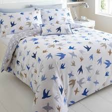 luvable friends printed fleece blanket birds king size duvetflies awayduvet cover
