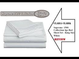 Clara Clark Supreme 1500 Collection 4pc Bed Sheet Set King Size