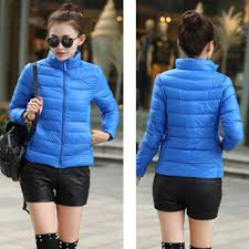 features stand collar design to better prevent from wind fashion short winter coat for women stylish and cool thin and light not too puffy for winter