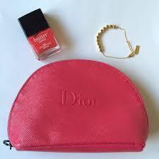 authentic hot pink dior makeup bag