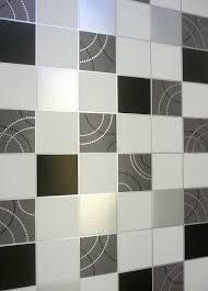 Dotty Behang Keuken Badkamer Zwart Zilver Tile Effect Wasbaar Fruugo