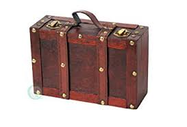 Amazon.com: Vintiquewise(TM) Old-Fashioned Small Suitcase/Decorative Box  with Straps: Home & Kitchen
