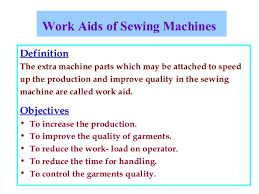 Work Aid Sewing Machines