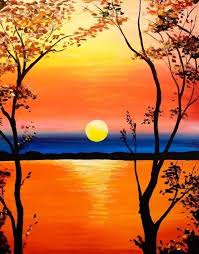 Painting Ideas Best 25 Easy Acrylic Paintings Ideas On Pinterest Sunset .  Interesting Inspiration