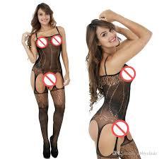 Women's sex croch less stocking