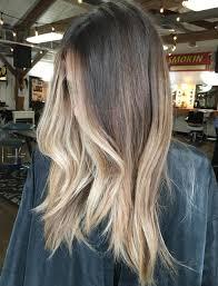 Straight Hair With Blonde Balayage