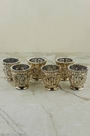 6 mercury glass votive candle holders zoom