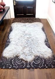 white faux fur area rug faux fur area rugs off white faux fur area rug white
