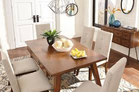 Ashley Centiar Two Tone Brown 7 Pc Rectangular Dining Set On Sale